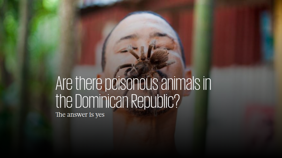 Poisonous animals of the Dominican Republic
